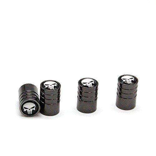 MirosCar Valve Stem Caps Zinc Alloy Plating Chrome Tire Valve Stem Valve Caps For BMW (Set of 4) -(Black)