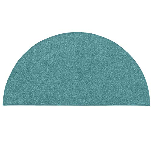 Ambiant Pet Friendly Solid Color Teal Half Round 20