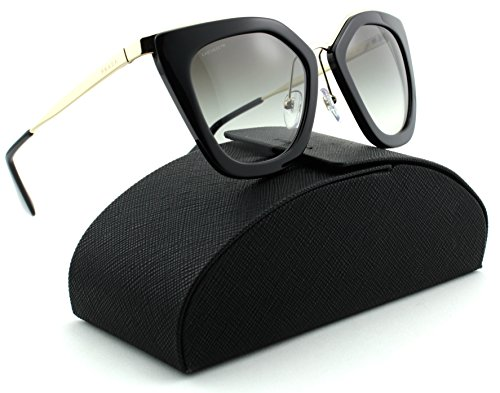 Prada 0PR 53SS Women Sunglasses Black Frame /Grey Gradient Lens - Eye Cat Sunglasses Prada