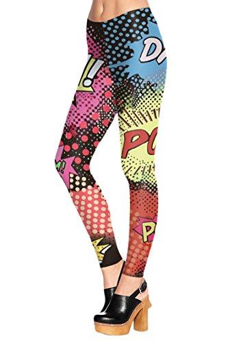 COCOLEGGINGS Womens Digital Stretch Leggings