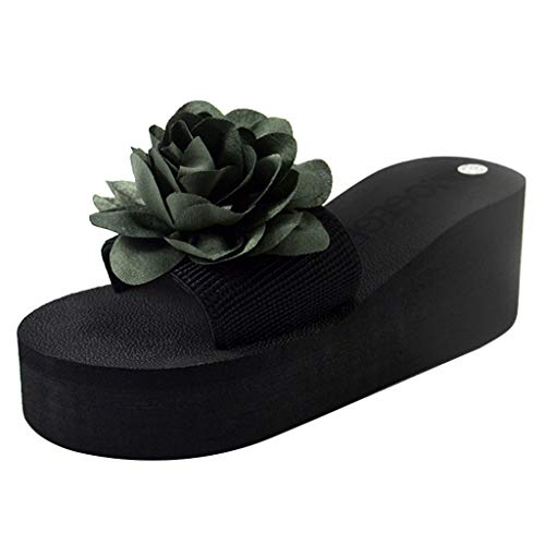 Sherostore ♡ Sandals Slippers, Women Flower Summer Wedge Sandals Slipper Beach Thick Bottom Shoes for Indoor and (Best Joe's Usa Baby Strollers)