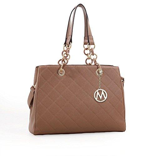MKF Collection Sharon Shoulder Bag and Designer Tote Handbag by Mia K. Farrow (Taupe)
