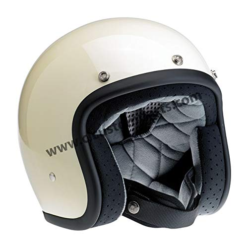 Amazon.es: Motorcycle Storehouse Biltwell Bonanza - Casco para moto M negro brillante