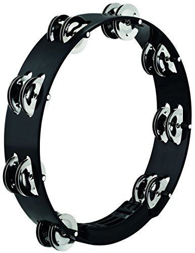 (Meinl Percussion Tour Tambourine with Stainless Steel Jingles - NOT MADE IN CHINA - Black, 10