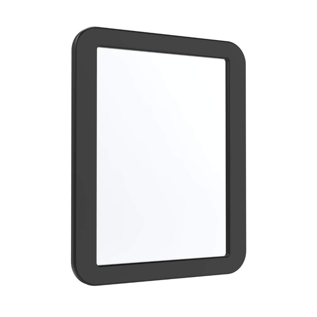 """LyCloud Magnetic Locker Mirror 5 ¼"""" x 7"""", Magnetic Back Sticks to Any Ferrous Metal Surface, Ideal Mirror for School Locker, Bathroom, Household Refrigerator or Office Cabinet, Black"""