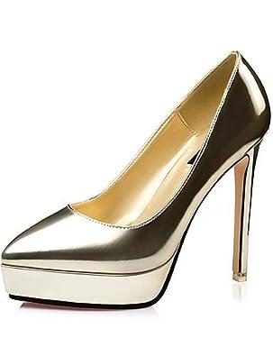 Ggx/Chaussures femmes Automne talons/Bout Pointu/talons Robe Stiletto Talon Othersblue/marron/rouge/argent/gris/doré
