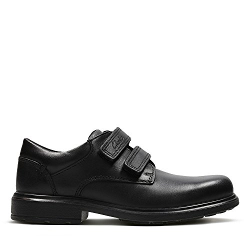 Clarks Remi Pace Inf Boys School Shoes 9.5 Black Leather