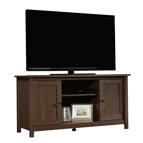 lnut Finish County Line TV Stand (Living Room Walnut Pedestal)