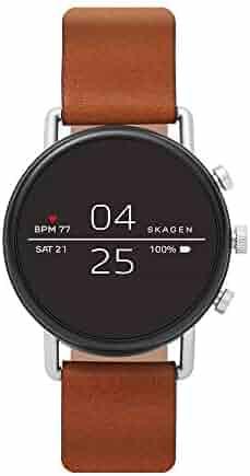 Skagen Connected Men's Quartz Stainless Steel Smart Watch, Color:Brown (Model: SKT5104)
