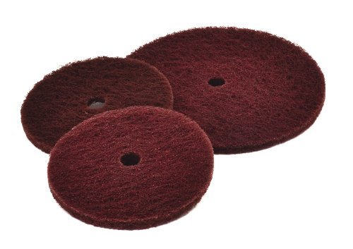 Arc Abrasives 53184123-3 Bright Buff High Strength Deburring Discs, Grade A MED, 12-Inch Diameter by 1-1/4-Inch Arbor Hole, 25-Pack by ARC Abrasives