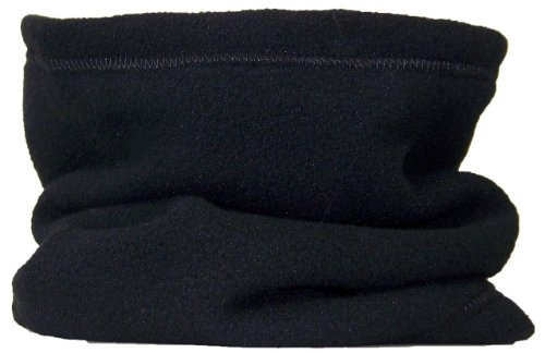 Best Winter Hats Reversible 100% Polyester Fleece Winter Neck Gaiter/Warmer (One Size) - Black