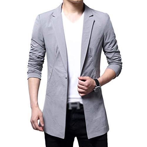 Sportiva Grau Autunno Tuta Primavera Giacca Coat Uomo Slim Vestibilità Capispalla Abbigliamento Da Fit Blazer BqTOcwd