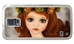 Hipster stylish Samsung Galaxy S5 Cases sad doll PC Transparent for Samsung S5