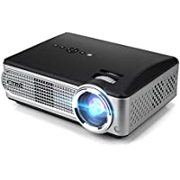iRULU P4 HD Video Projector LED Home Projector 1080P Supported Projector with HDMI VGA USB AV for TV Game Laptop Smartphone