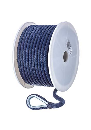 - Seachoice 42221 Double-Braid Nylon Anchor Line - Navy - 3/8 Inch x 100 Feet, 3/8-inch x 100-ft