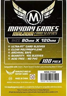 Mayday Black Premium Card Sleeves 63.5mm X 88mm Pack of 80
