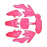 Pink Plastic Fender Body Work Fairing Kit For Honda CRF XR XR50 CRF50 Clone 125CC Pit Dirt Bike,MX Trail Bike 50cc 70cc