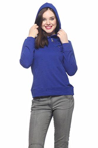 Gritstones Royal Blue Jacket Full Sleeves Hooded-GSSSHRT60129RBLU-S