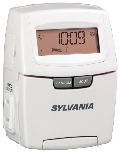 sylvania sa140 15 amp zip set digital lamp and appliance timer - Lamp Timer