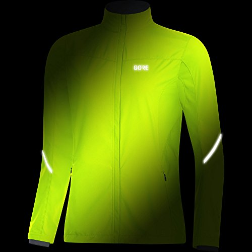 GORE WEAR Women's R3 Partial Windstopper Jacket, Neon Yellow, Small by GORE WEAR (Image #2)