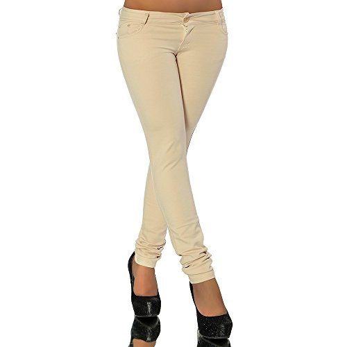 Mujer Beige Jeans Básico Vaqueros Skinny para Diva 8O6pqw4W