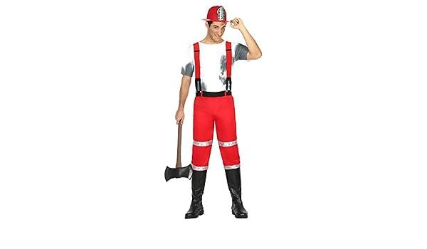 Atosa- Disfraz hombre bombero, XL (17046): Amazon.es: Juguetes y ...