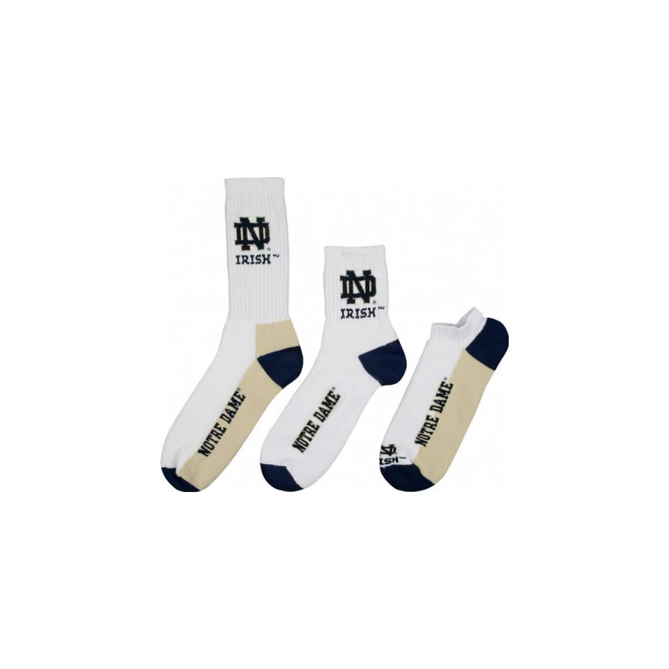 Notre Dame Fighting Irish Mens 3 Pair Sock Pack