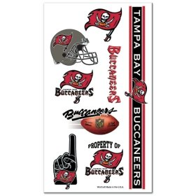 Tampa Bay Buccaneers NFL Temporary Tattoos (10 Tattoos)