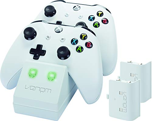 Venom Twin Charge Docking Station With 2x Rechargeable Battery Packs (white)