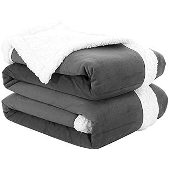Fassbel Sherpa Throw Blanket Reversible Super Soft Lightweight Blanket Microfiber Warm All Season Blanket for Bed or Couch (50