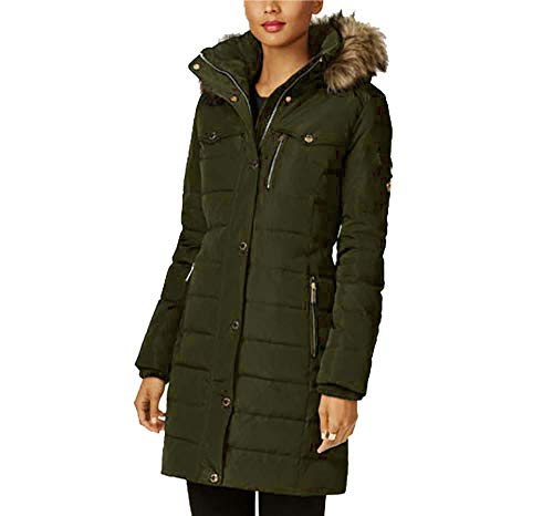 Michael Kors Red Down Coat (Medium, Dark Moss) ()