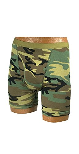 Men's Woodland Camo Boxer Briefs, Woodland Camo, - Camouflage Woodland Boxers