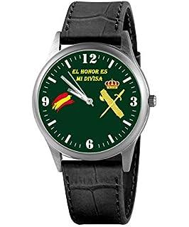 Reloj G&B Guardia Civil Correa Bandera España Verde Esfera Negra ...