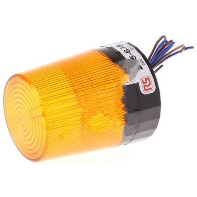 RS Pro 235635 Xenon Beacon Amber Flashing Surface Mount 230 Vac