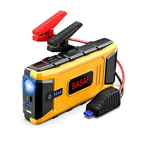 BASAF Car Jump Starter 1200A Peak for up to 8L Gas and 6L Diesel Engines