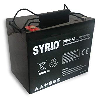 Batteria AGM 100Ah 12V Deep Cycle Syrio Power Fotovoltaico Nautica Camper