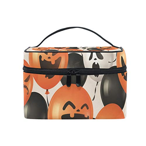 Makeup Bags Organizer Halloween Pumpkin Balloon Large Travel Cosmetic Beauty Storage Toiletry Pouch for -