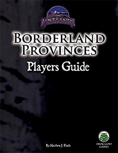 Borderland Provinces Players Guide