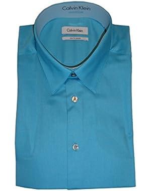 Calvin Klein Men's Motion Slim Fit Stretch Shirt, Size 16 1/2 32-33, Color Mint