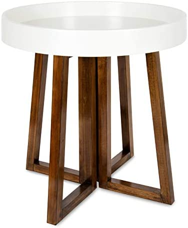 Kate and Laurel Avery Mid-Century Modern Round Side Table