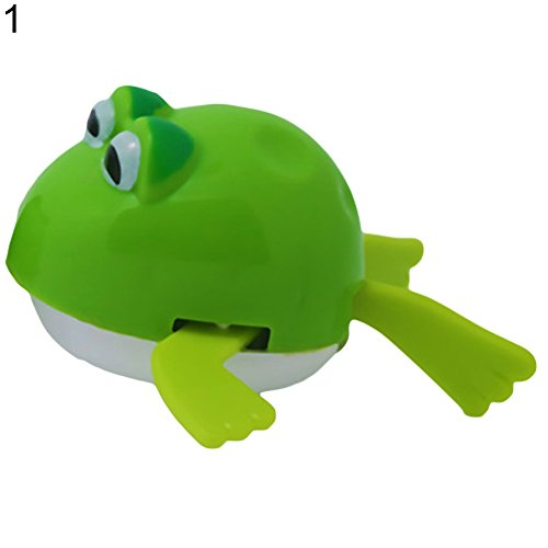 Cute Wind up Cartoon Frog Tortoise Plastic Swimming Baby Children Bath Toy Gift