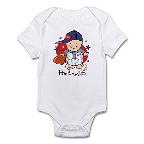 CafePress Future Baseball Star Infant Bodysuit - Cute Infant Bodysuit Baby Romper