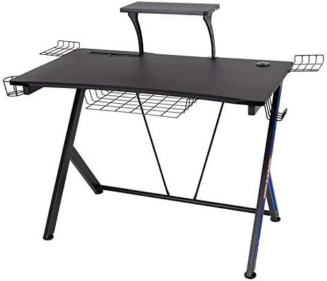 Polar Aurora Y-Sharped Gaming Desk 41.6″ W x 24″ D Home Office Computer Table