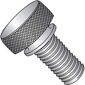 #4-40 x 5/16'' Knurled Thumb Screw w/Washer Face - FT - 18-8 Stainless Steel - Pkg of 100 (0405TKW188)
