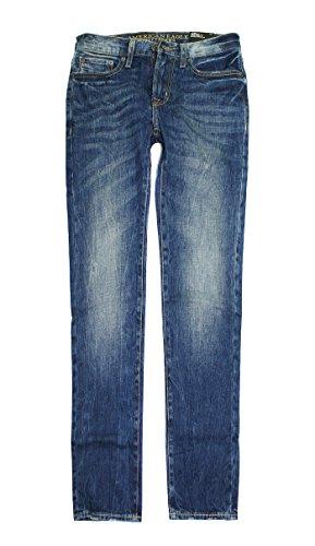 American Eagle Men's Slim Straight Jean 3855 (Medium Vintage Wash) (28x28)
