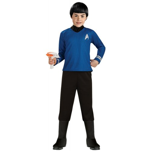 Star Trek into Darkness Deluxe Spock Costume, (Star Trek Costume Boots)
