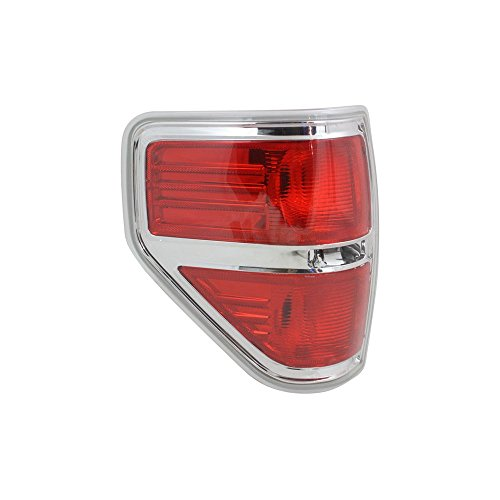 Tail Light compatible with Ford F-150 09-14 Lens and Housing Styleside CAPA Certified Left Side ()