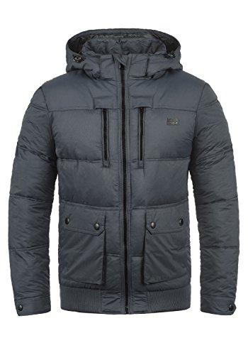 Blend Rave Men's Winter Jacket Outdoor Jacket with Hood Ebony Grey (75111)