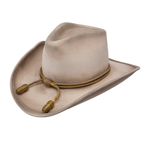 - RESISTOL Men's John Wayne Hondo Cavalry Hat Silverbelly Medium