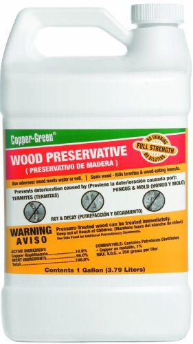 Green Products Co. 30001 Copper Green Wood Preservative, 1-Gallon (Best Deck Stain For Pressure Treated Wood Reviews)